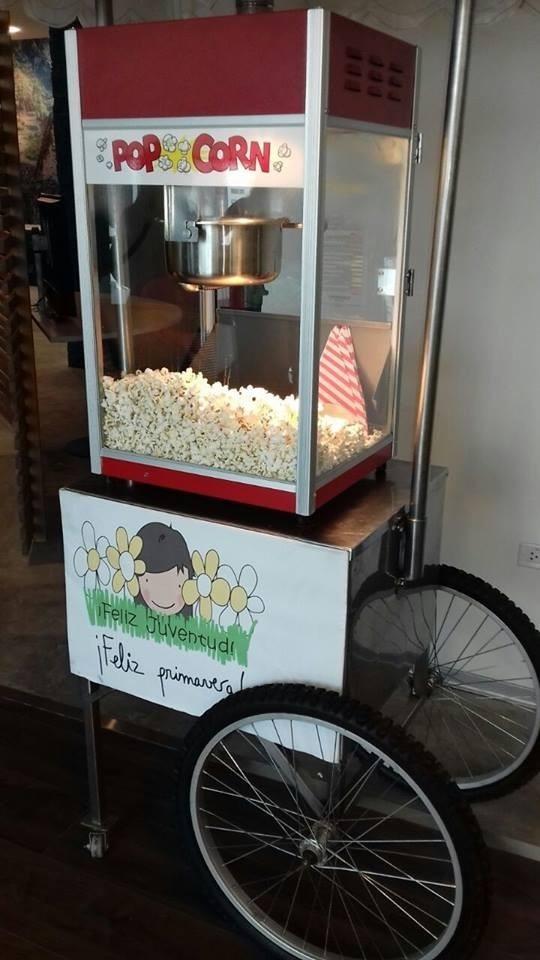 Alquiler de carritos snack popcorn algodón sandwichs y más