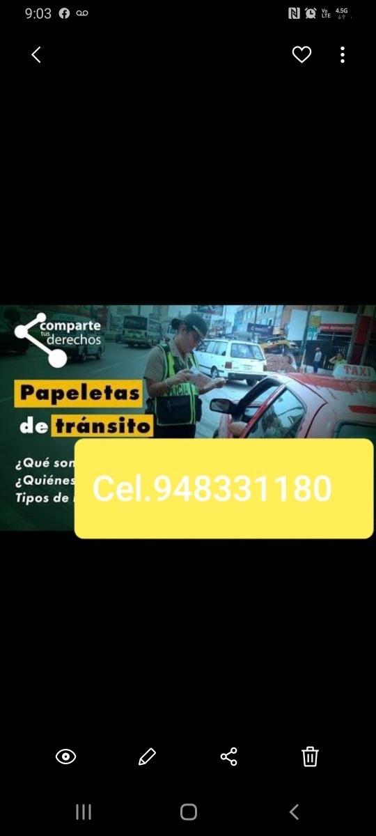 Anulación de papeletas de transito y actas de control