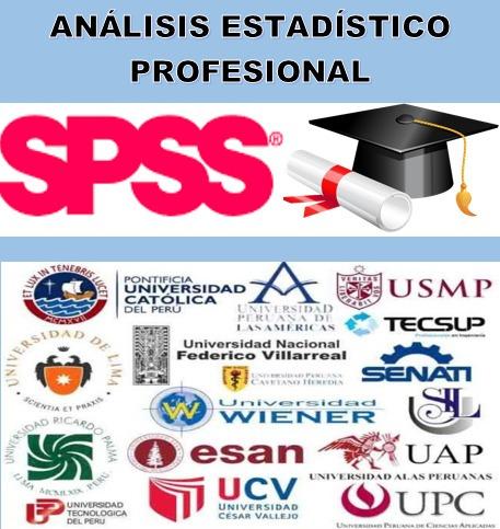 Asesoría estadística para tesis   spss   precio accesible