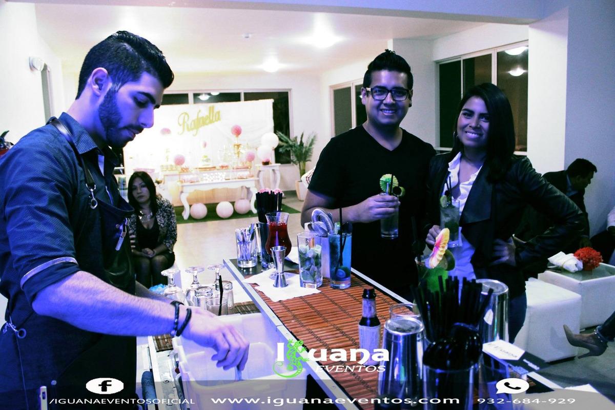 Barman a domicilio, servicio bartender, barra movil, barras