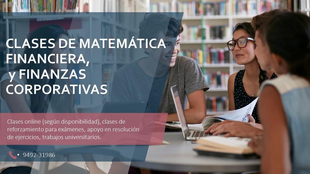 Clases de matemática financiera, contabilidad y auditoria