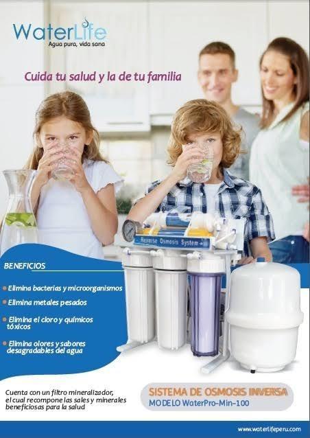 Filtro purificador agua osmosis inversa 6 etapas =375 litros