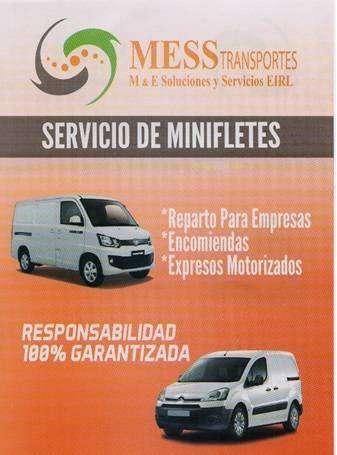 Servicio de transporte de carga, minifletes y distribucion en general local y nacional