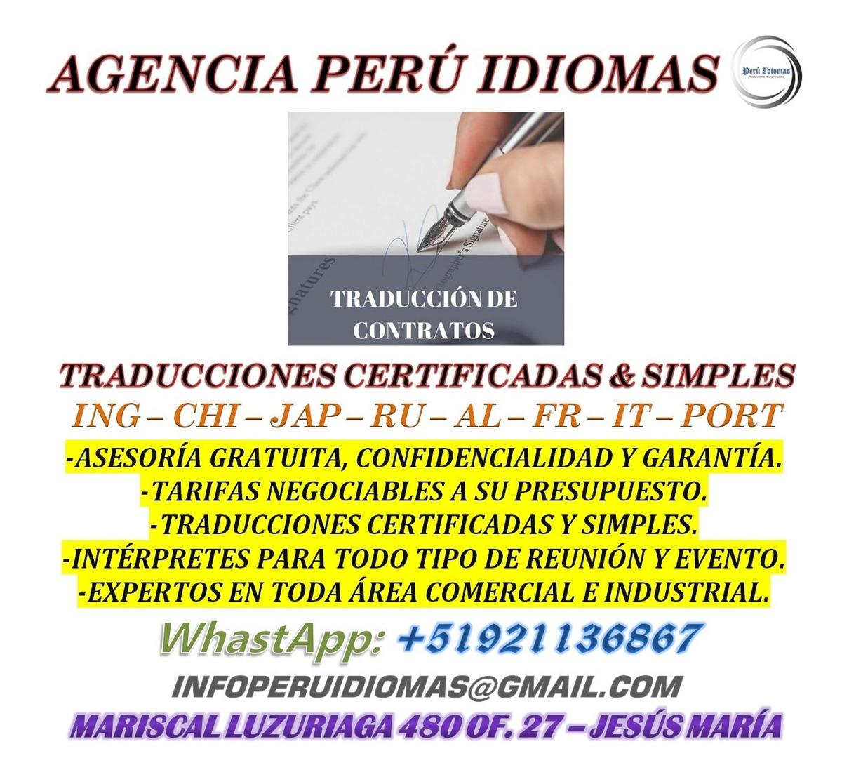 Traducciones certificadas y simples a su presupuesto