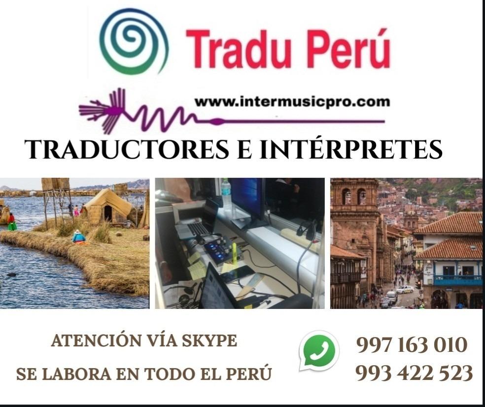 Traductores en perú