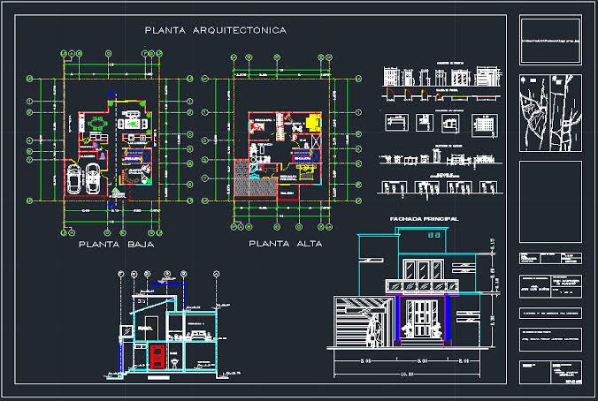 Dibujo de planos en 2D y 3D en Autocad y SKetchup