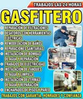 Maestro gasfitero: experiencia y herramientas importadas