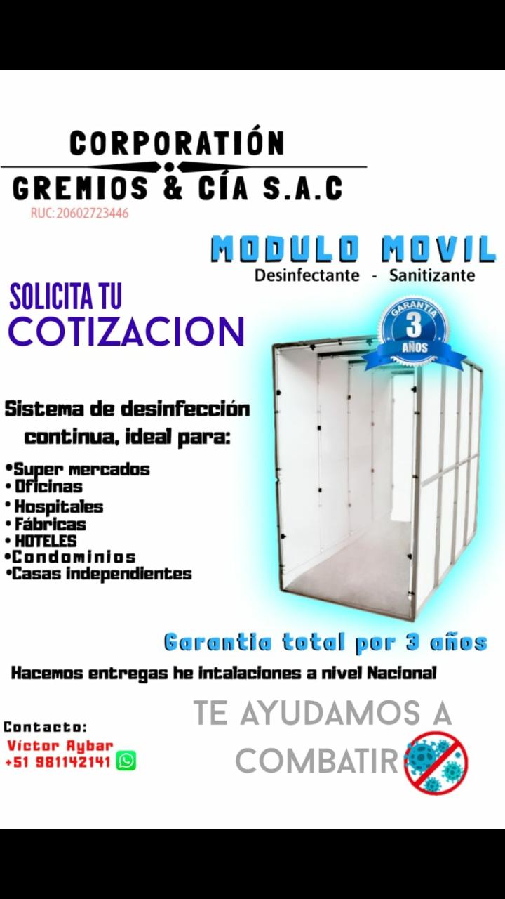Cabina de Desinfección Portátil a medida