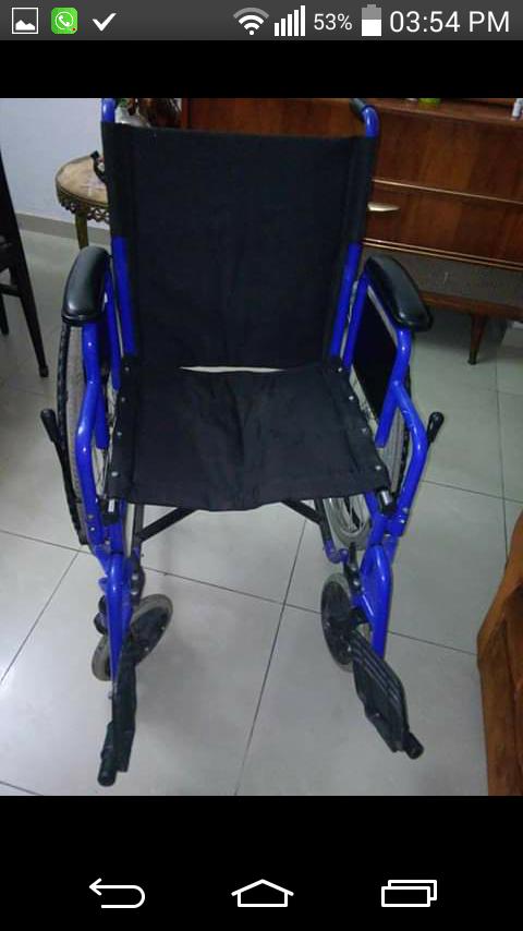 Alquiler de sillas de ruedas seminuevas