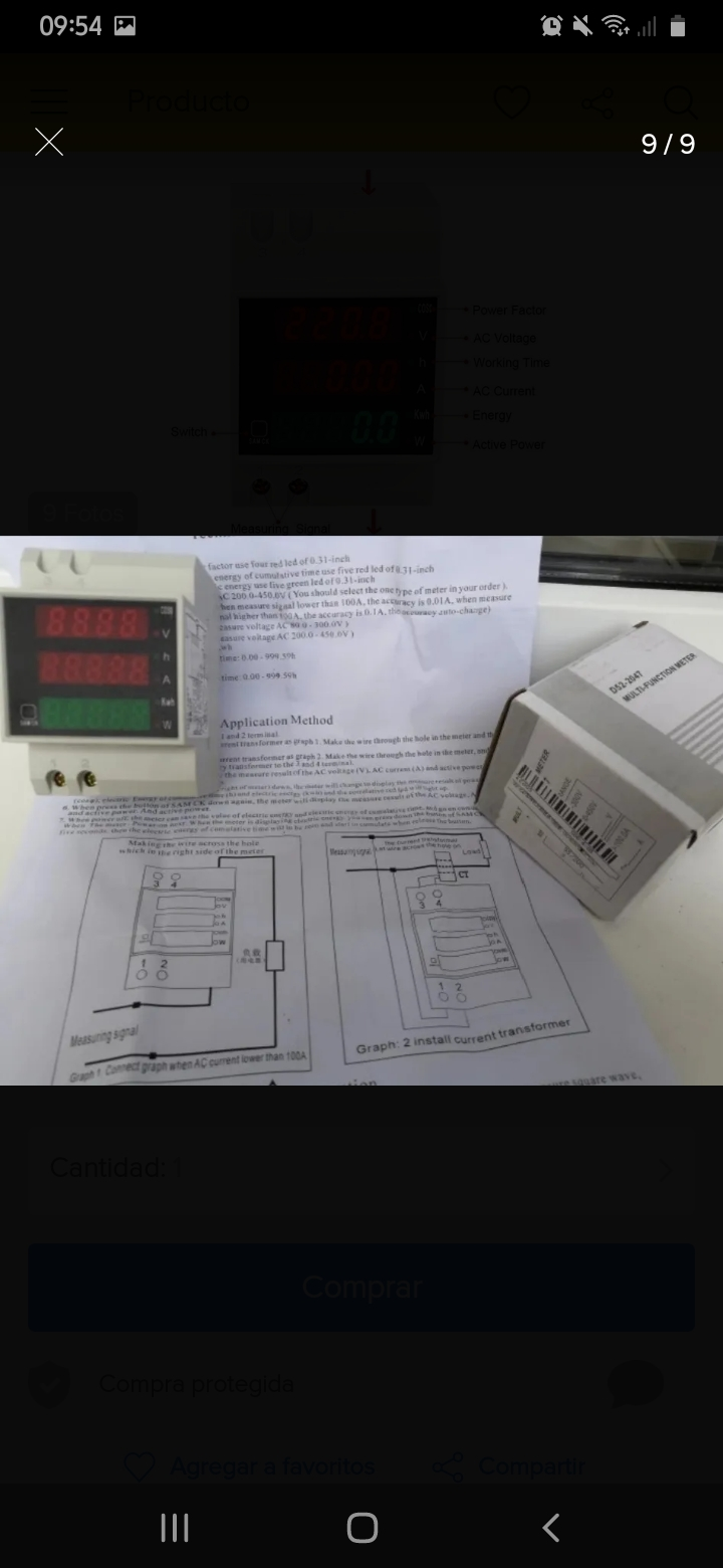 Medidores electricos compactas y modernas