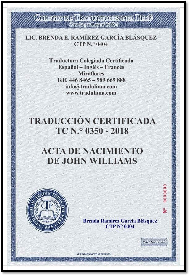 Traducciones Certificadas y Simples