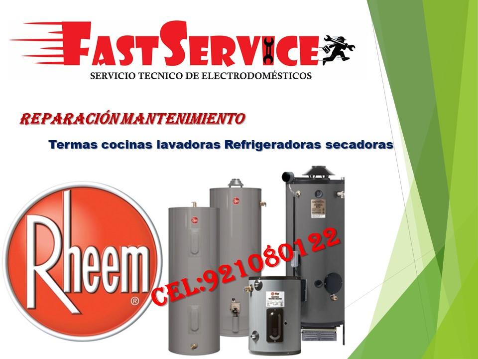 RHEEM servicio técnico de termas a eléctricas a gas lima