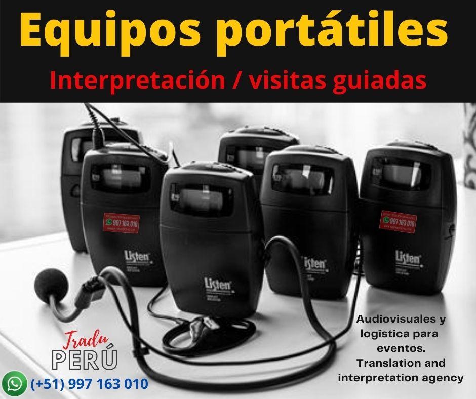 Traducción idiomas eventos  Perú