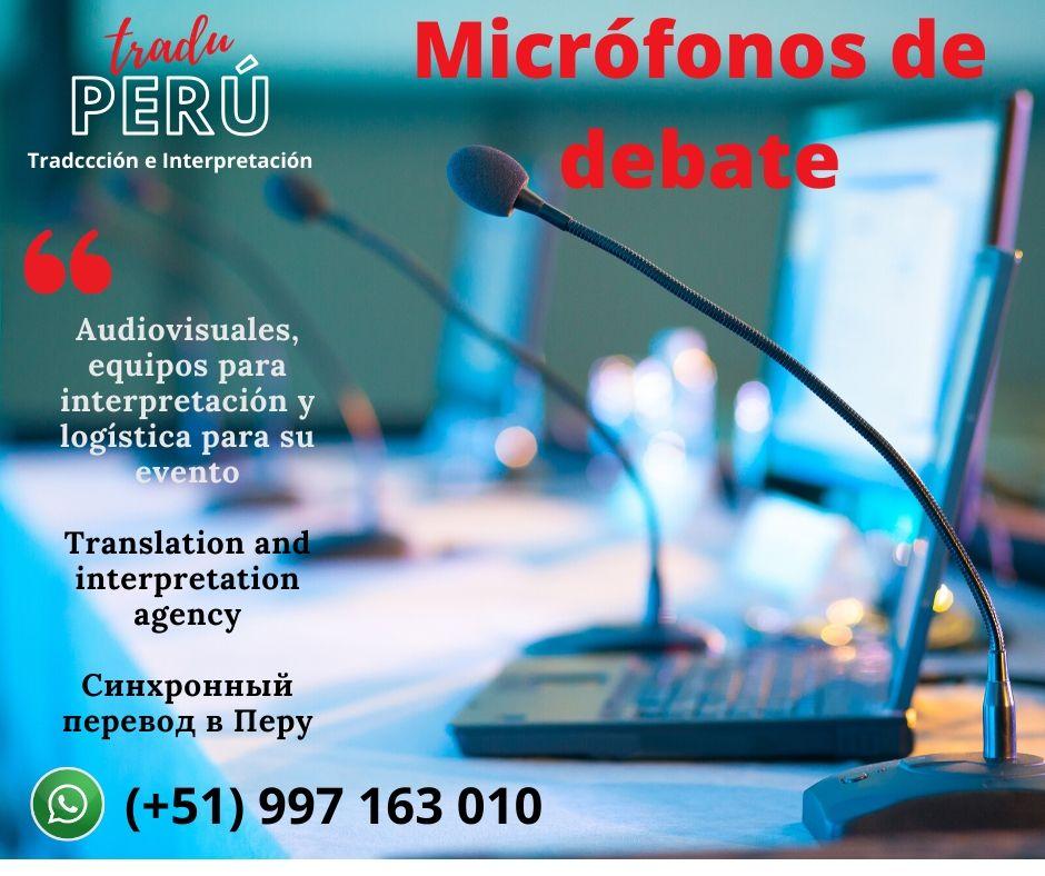 Micrófonos debate para conferencias Perú