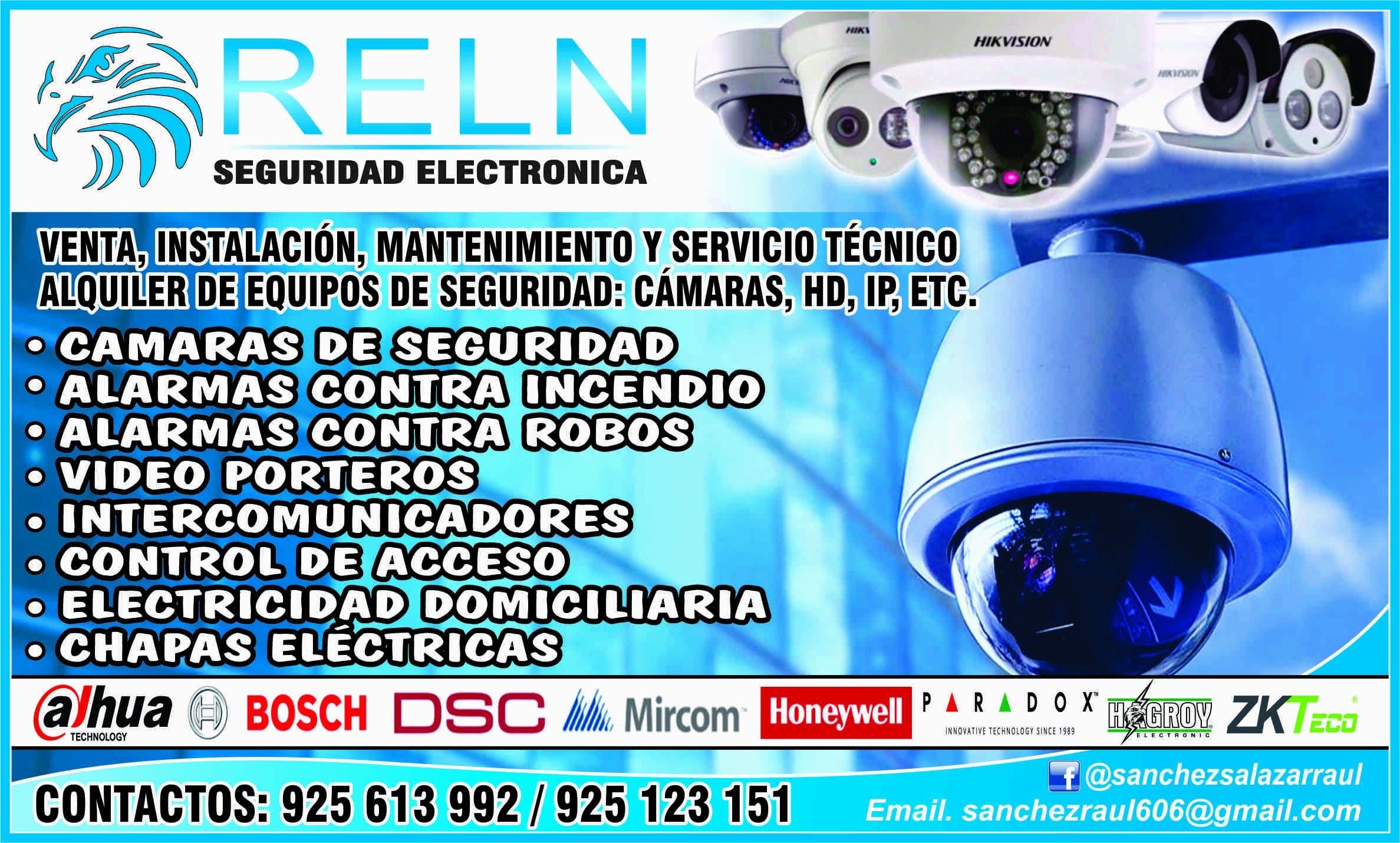 Instalación de cámaras y seguridad / electricista