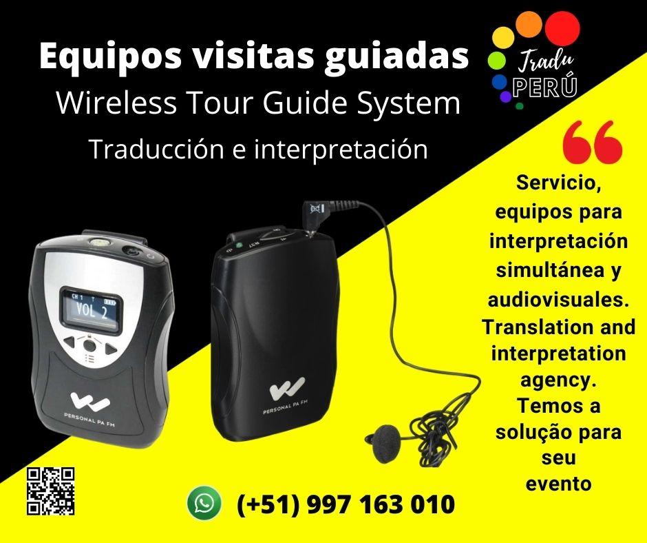 Traductores Ingles, francés portugués/ equipos eventos