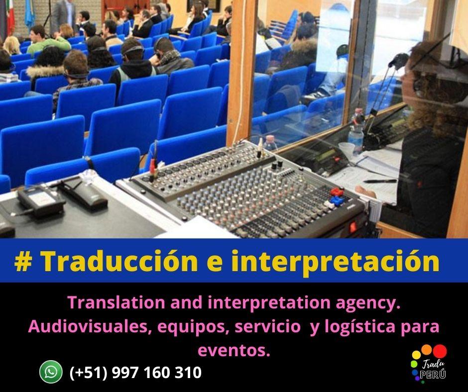 Lima traducción idiomas eventos y equipos Cel. 997161030