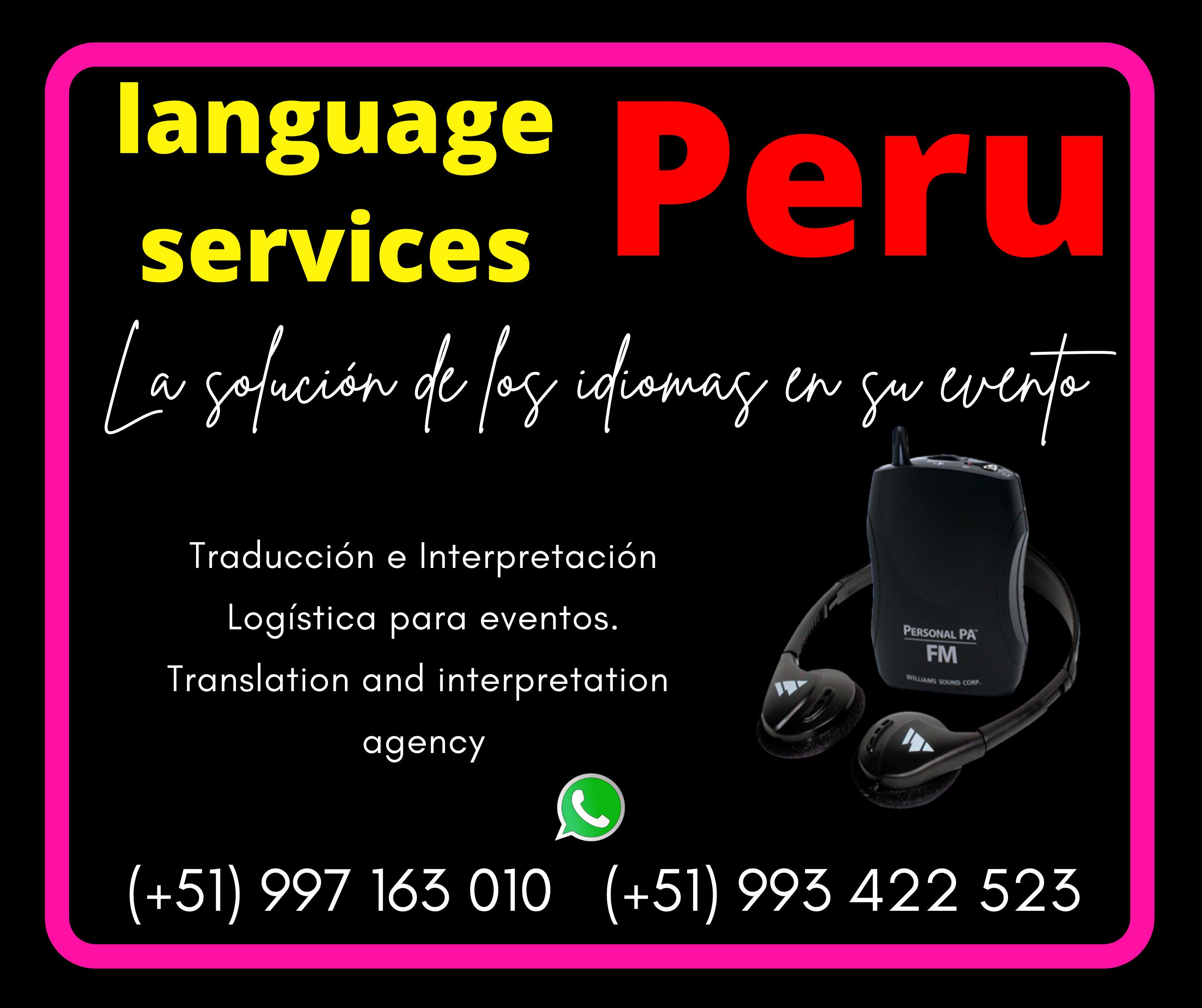 Cusco/Arequipa  Language Services / traducción de idiomas