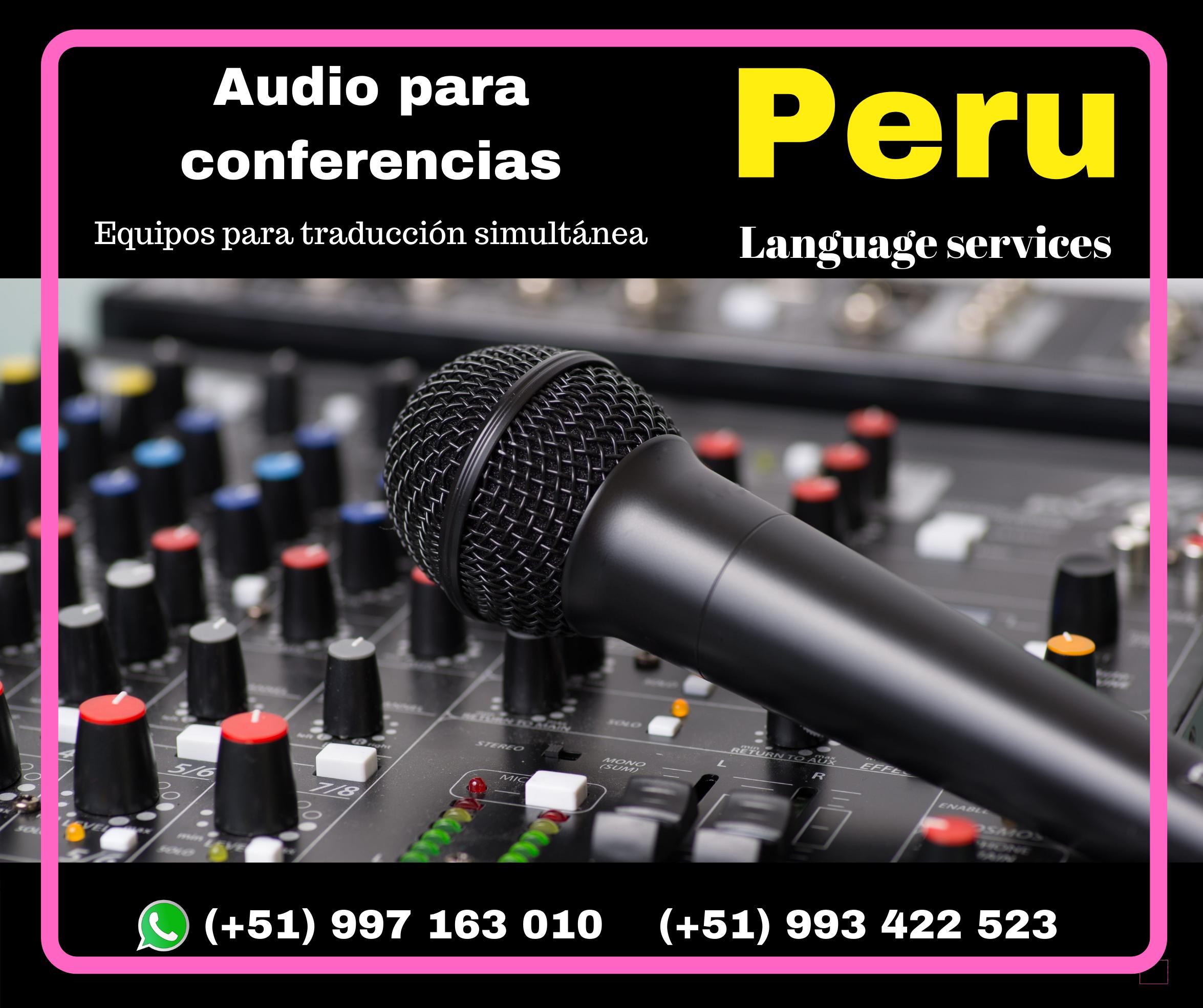Peru language services / Peru Interpreting Services /