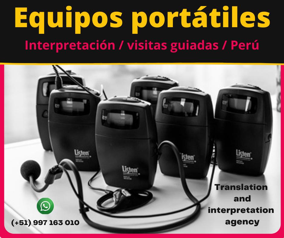 Traducción simultánea remota y presencial  LIMA / PERU