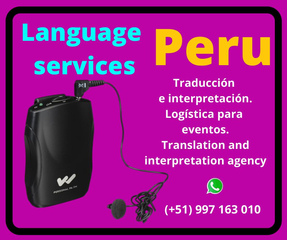 Alquiler equipos traducción Simultánea / TRADUPERU