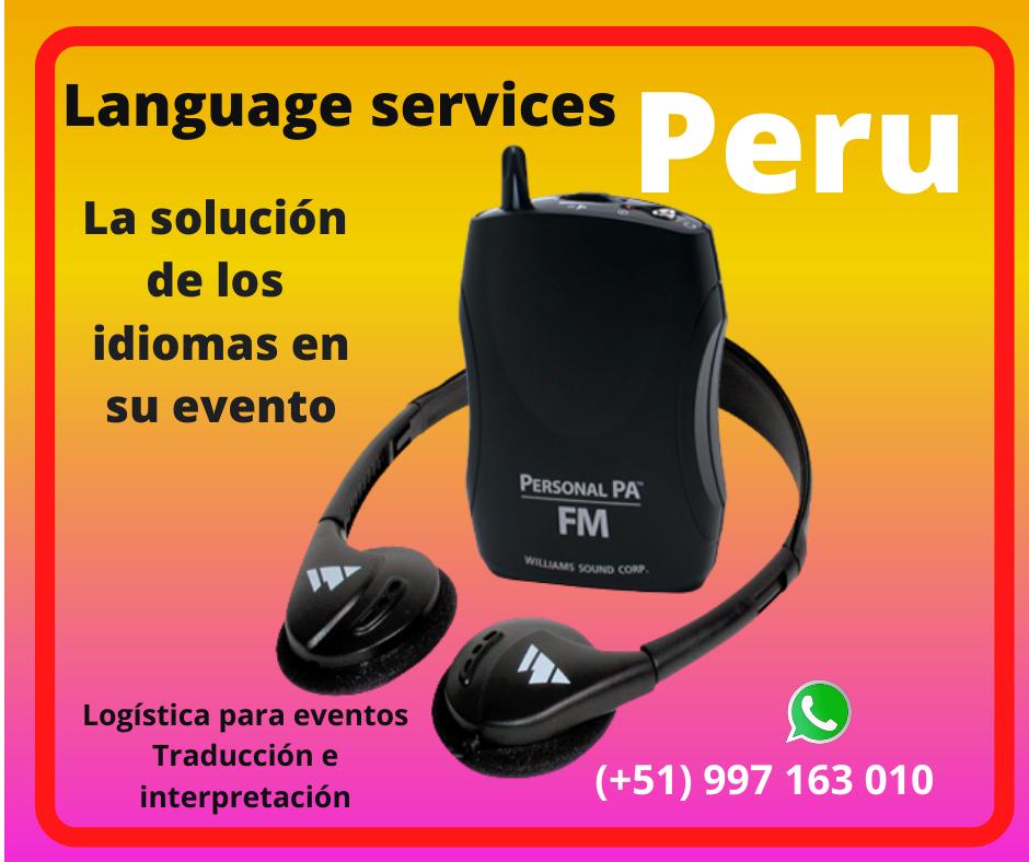 🥇Traducción idiomas eventos LIMA / PIURA/ CUSCO