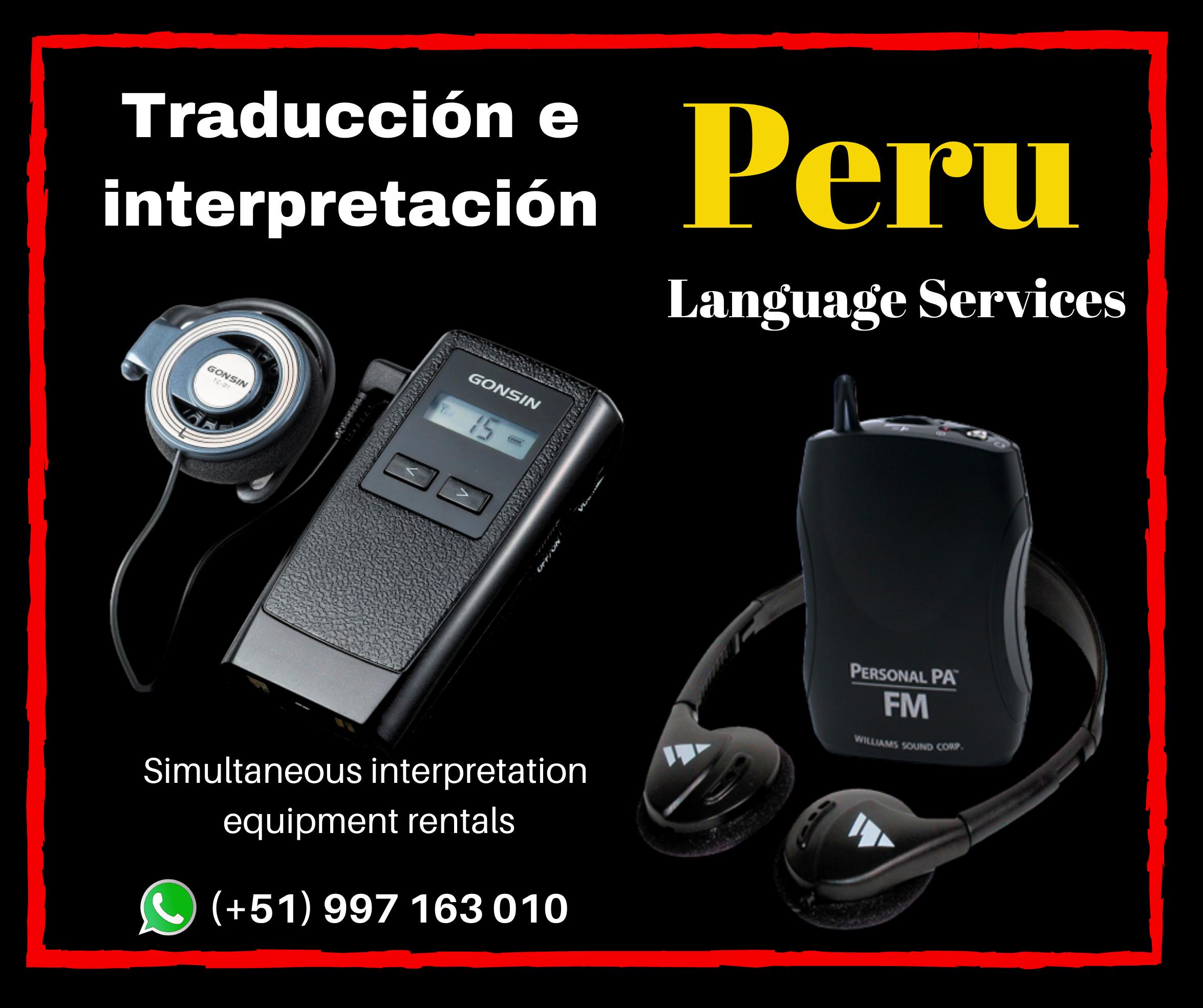 ✅ Alquiler Traducción de idiomas en Lima Cel. 99173010