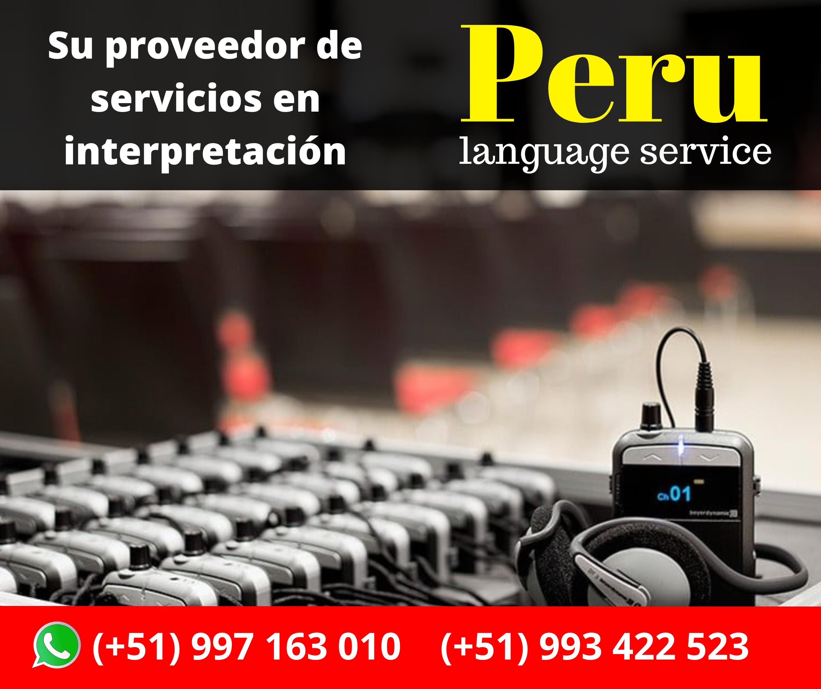 Interpretación simultánea /LIMA /PERU ✅ C. (+51) 997163010