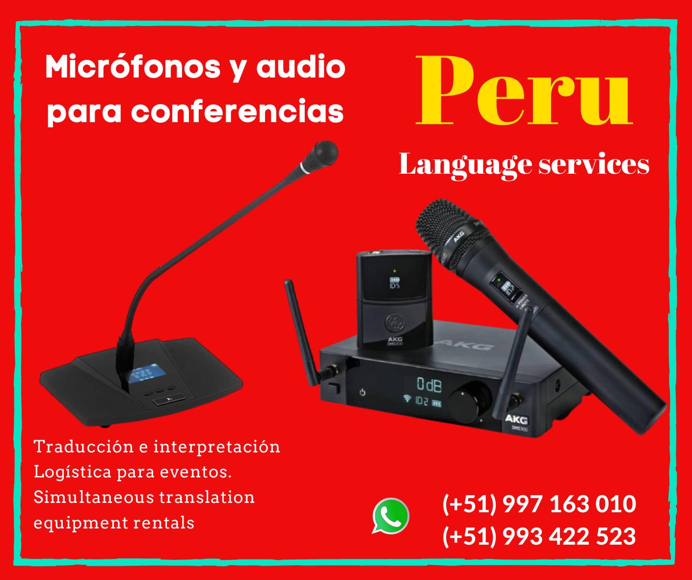 ✅ Simultaneous interpretation in LIMA /Cusco