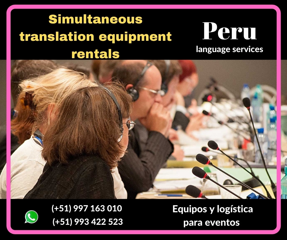 Alquiler servicio Traducción Lima  /Ica ✅  997163010
