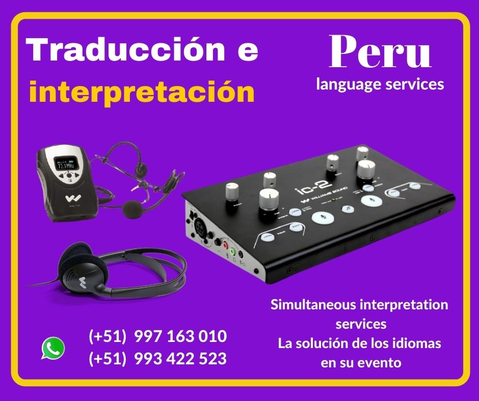 🥇 Traducción de idiomas eventos LIMA✅ C. (51) 997163010