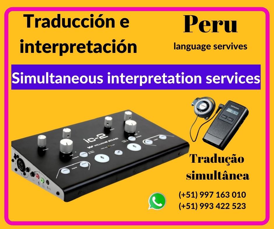 🥇 Traducción simultánea en  Lima / Cusco  ✅ 997163010