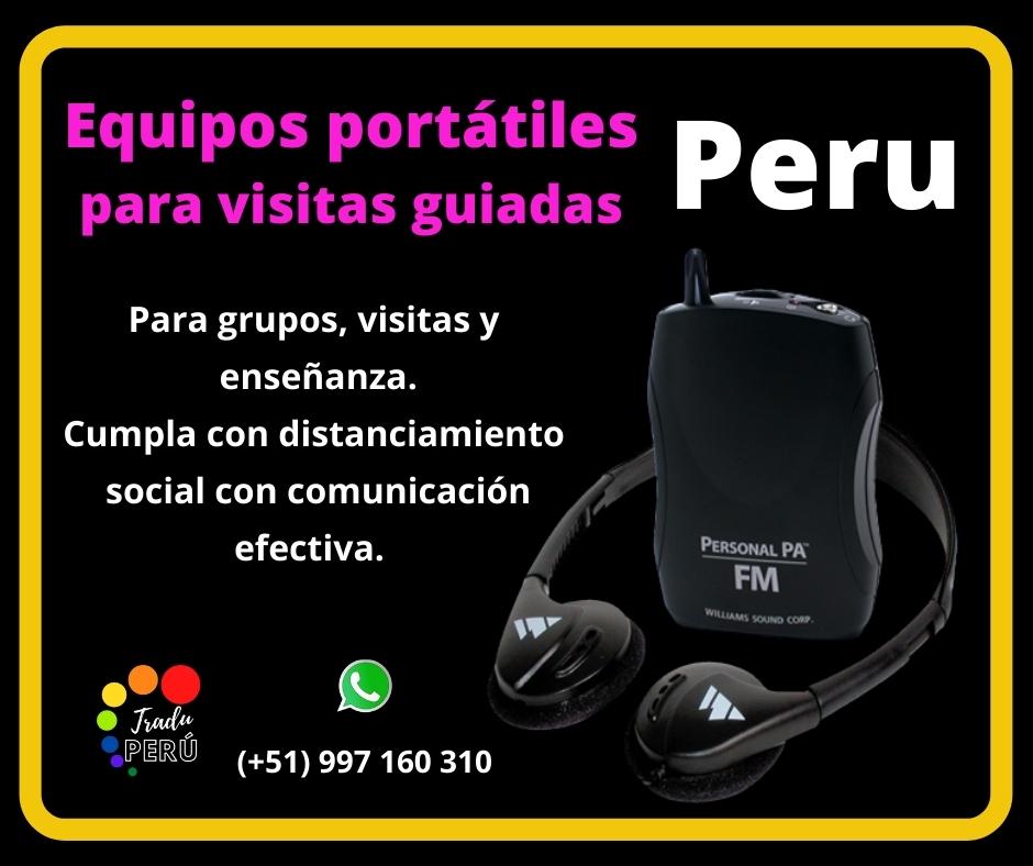 🥇Equipos portátiles para traducción LIMA/ ✅  997163010