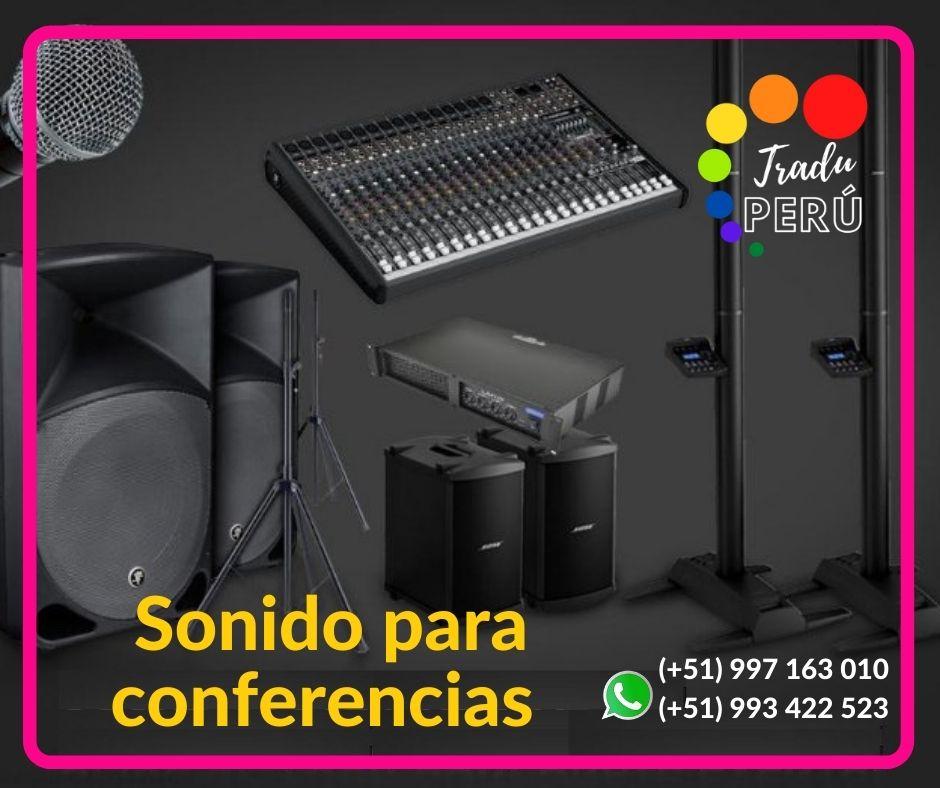 ✅ Equipo sonido conferencias /micrófonos LIMA / c. 997163010
