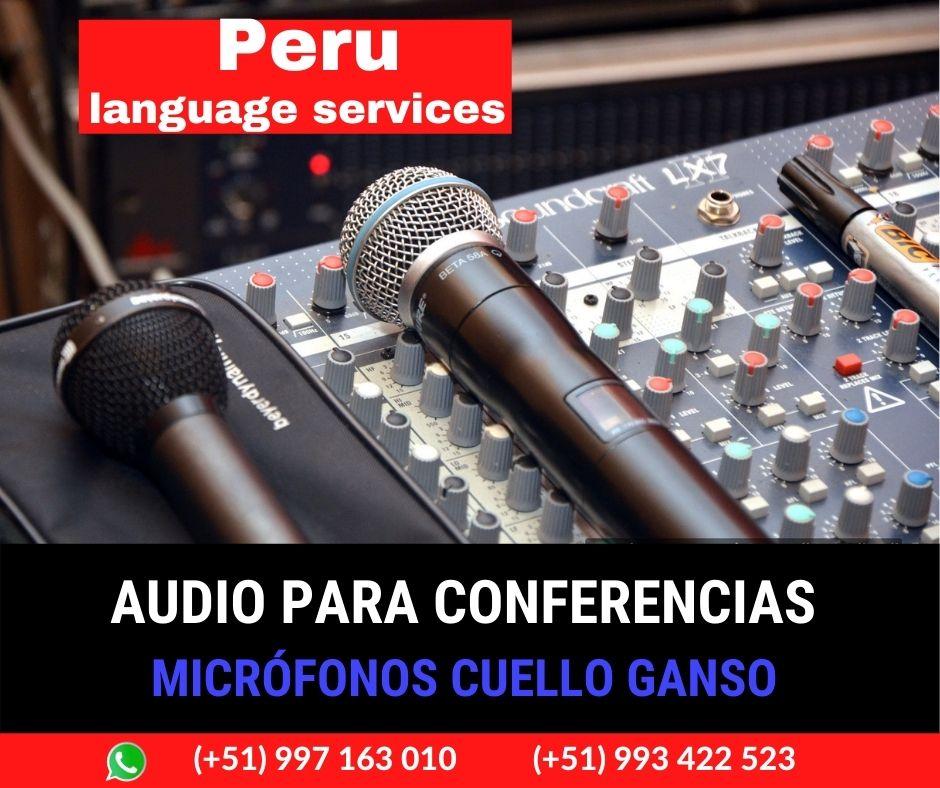 Equipo sonido y micrófonos conferencias LIMA ✅  997163010