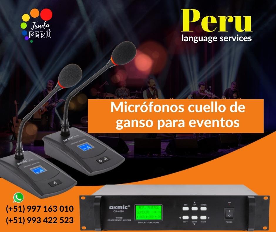 ✅ Micrófonos cuello de ganso /debate LIMA /C. 997163010