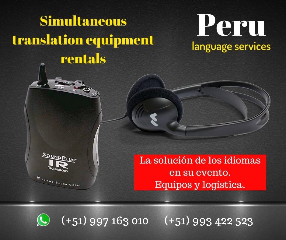 Alquiler auriculares traducción  Lima ✅ C. ( 997163010