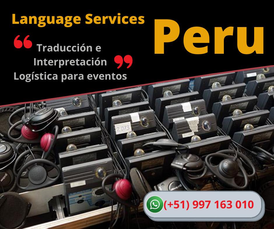 🥇 Alquiler equipos traducción LIMA / Chiclayo ✅ 997163010