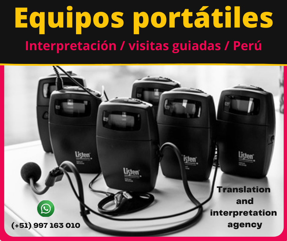 🥇Equipos portátiles  visitas guiadas Lima / ✅ C. (51)