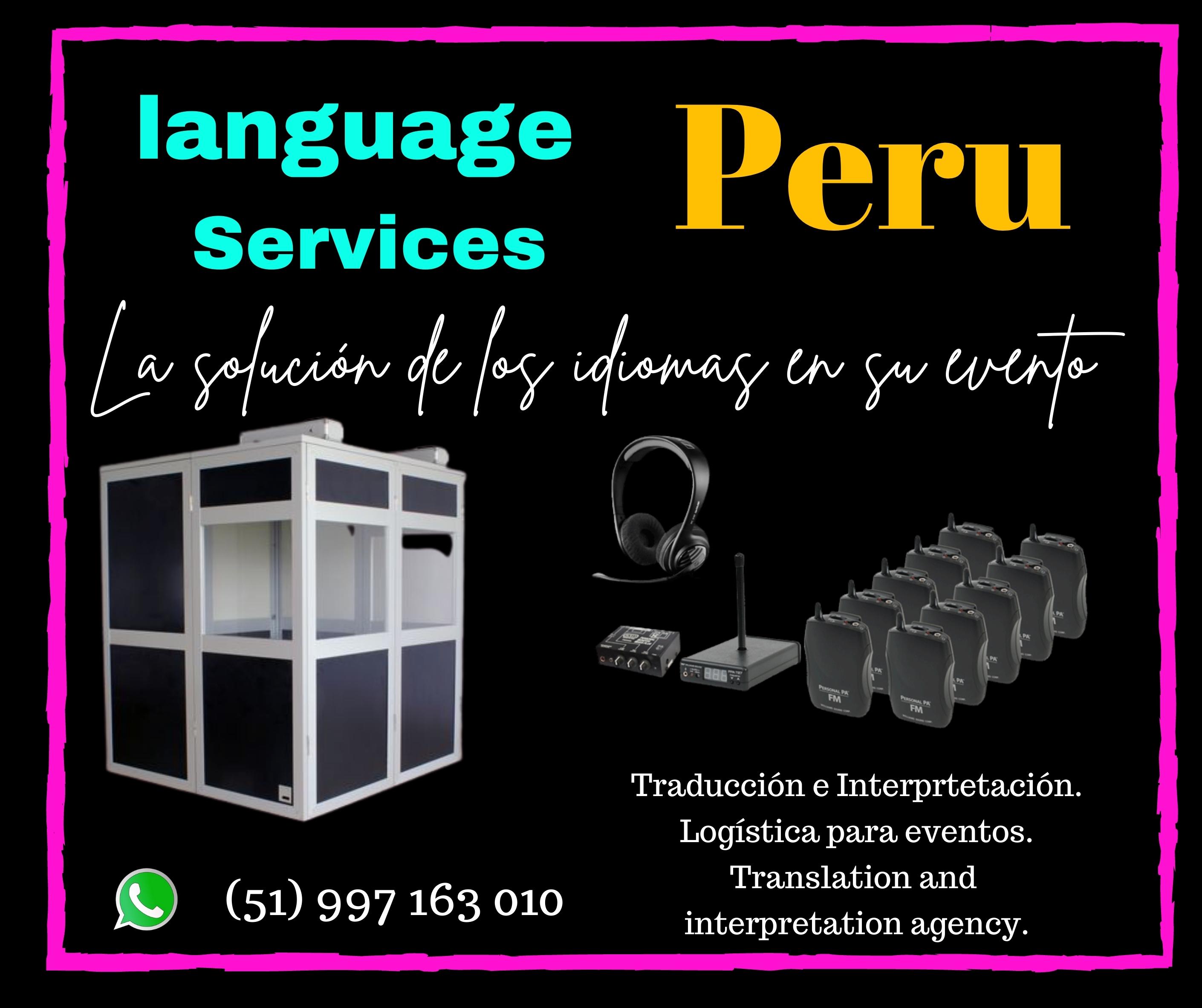 ✅ Alquiler equipos  traducción simultánea/Intérprete LIMA
