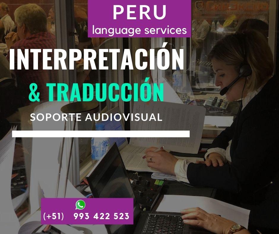 ✅  Traductotes e intérpretes con equipos LIMA/ ICA