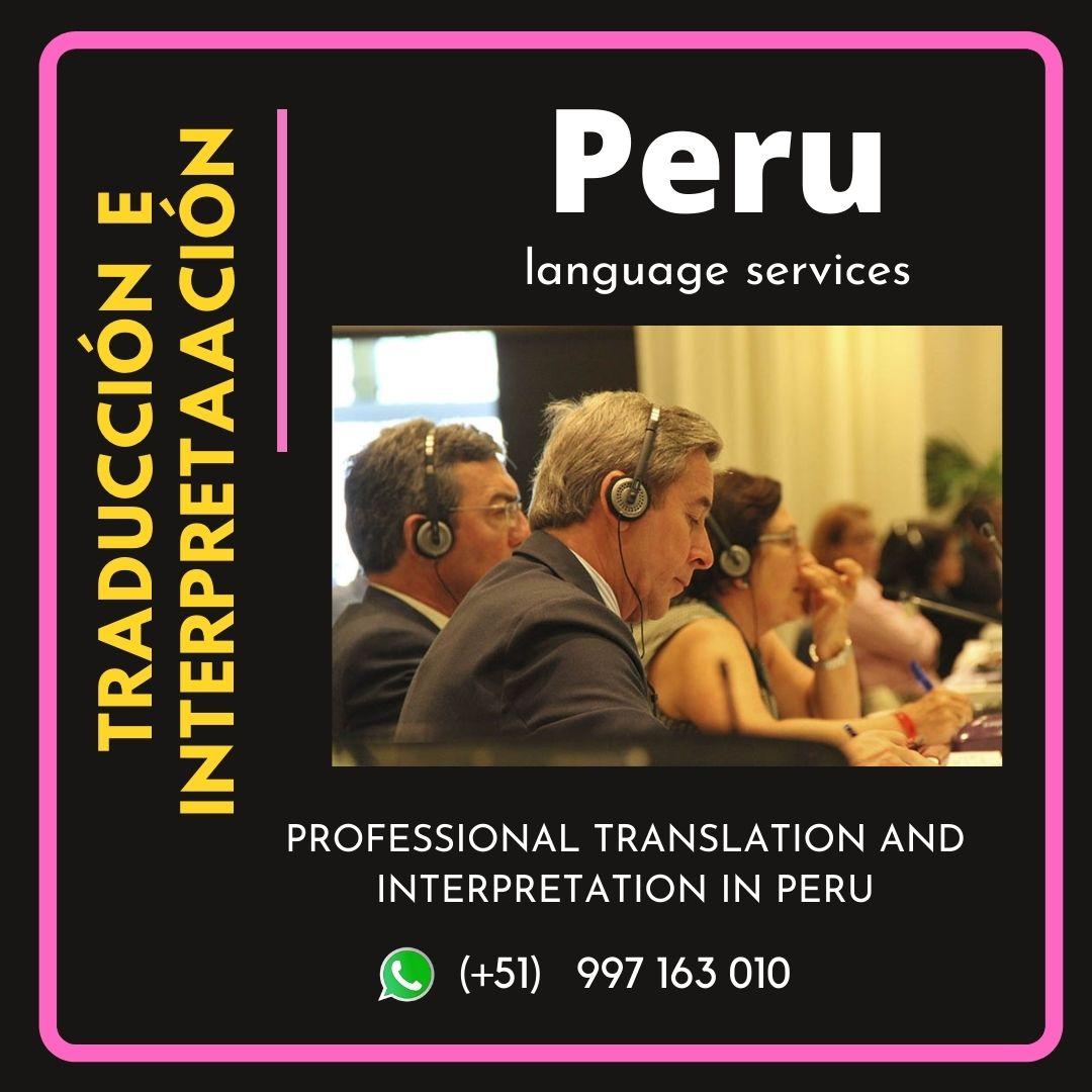 ✅  Servicios de traducción simultánea en LIMA C. 997163010
