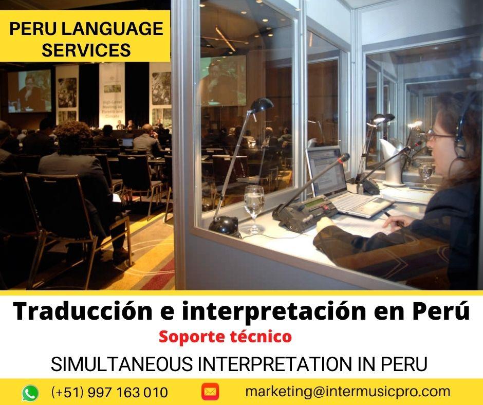 ✅We offer simultaneous interpretation  in Lima – Peru