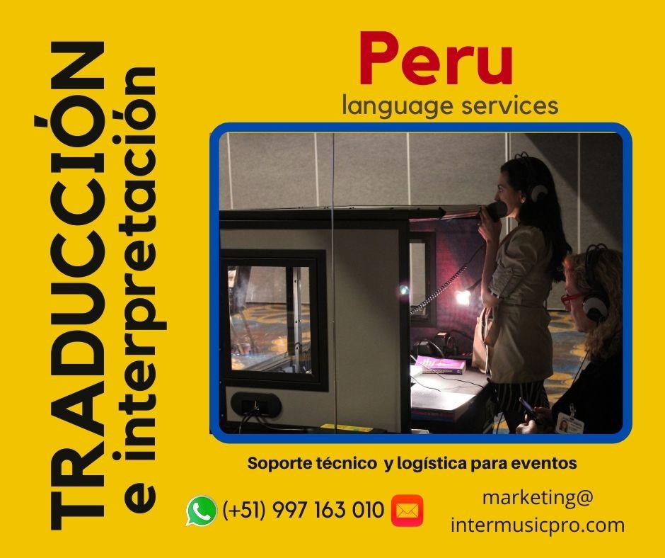 ✅  Equipo de Interpretación Simultánea en Lima / Chiclayo