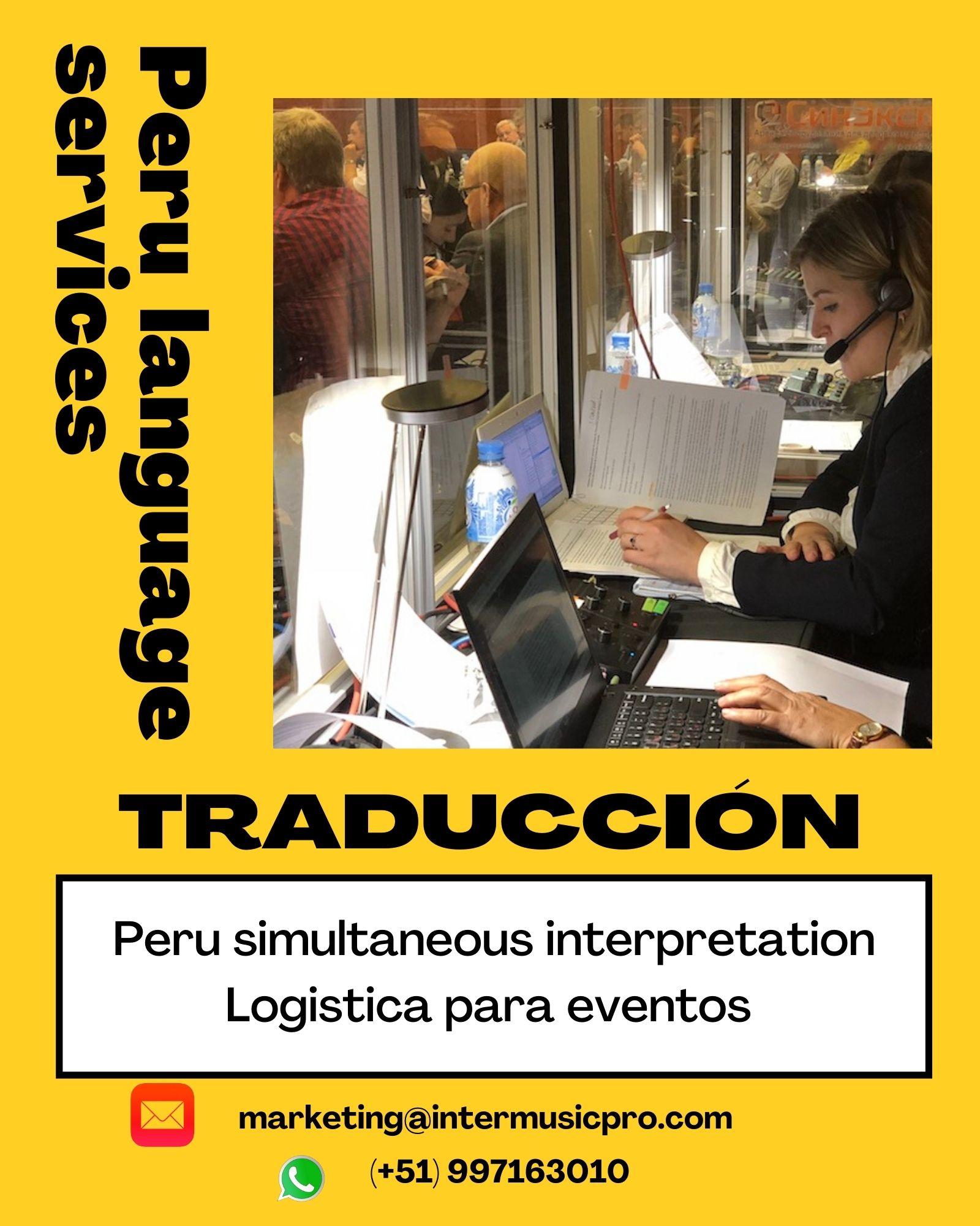 ✅ Traducción simultánea de idiomas en LIMA, CUSCO, PIURA