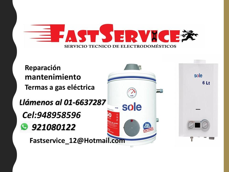 Servicio técnico de termas SOLE reparación mantenimiento