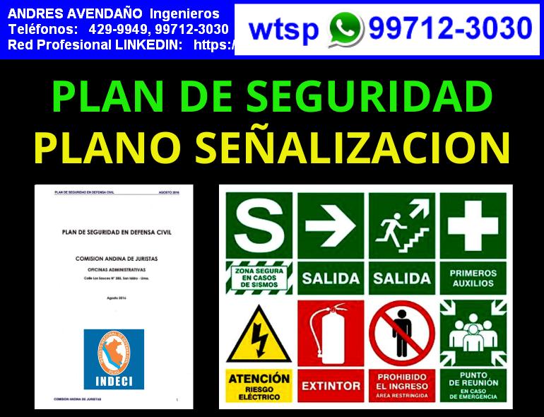 PLANOS DE SEÑALIZACION Y EVACUACION, PLAN DE SEGURIDAD