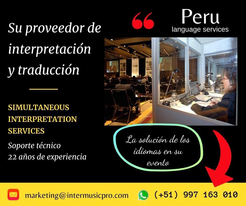 ✅  Tradução simultânea no Peru /Perú traducción