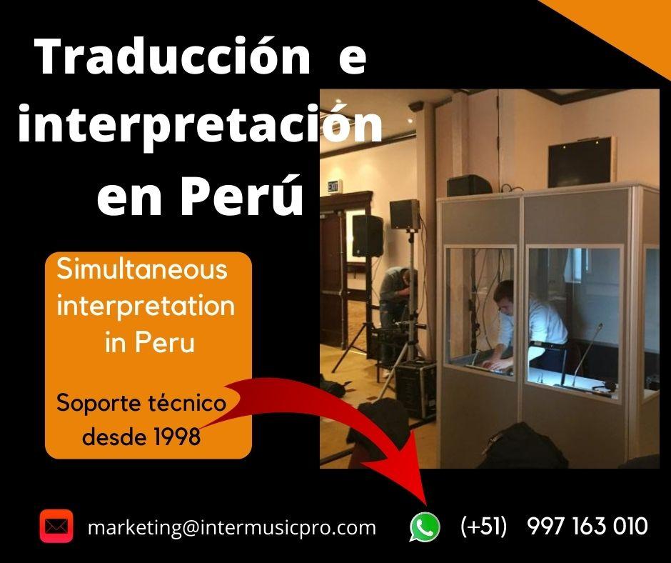 Simultanübersetzung in Peru / Traducción en Perú