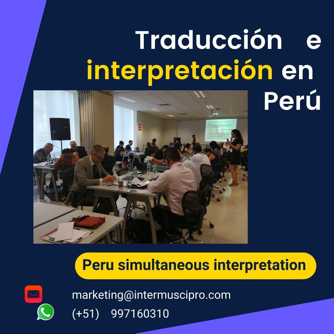 🥇Traductor de idiomas para eventos Lima / ✅  997163010